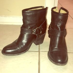Frye Black Tabitha Harness Short Boot size 6.5